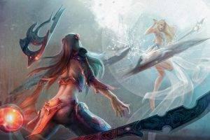 fantasy Art, Anime, Women, Irelia, Janna, League Of Legends