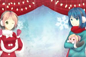 Osu, Pippi, Christmas, Anime, Anime Girls