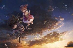 anime Girls, Anime, Mahou Shoujo Madoka Magica, Akemi Homura, Kaname Madoka