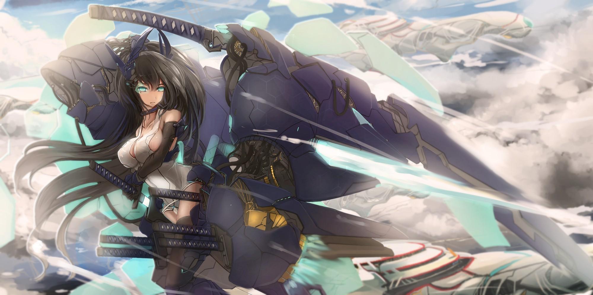 anime girls, Sword, Schoolgirls Wallpapers HD / Desktop