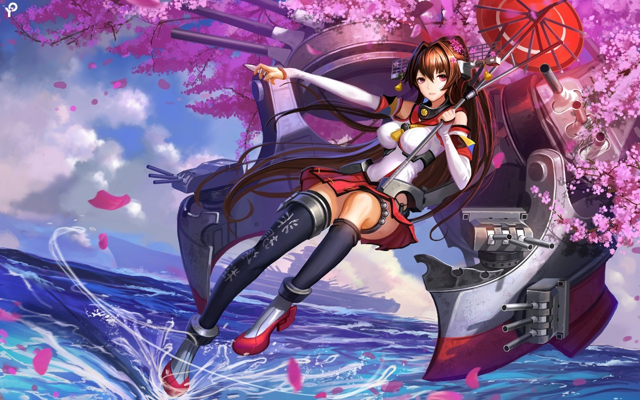 anime anime girls kantai collection yamato kancolle