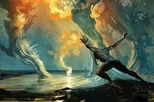 fantasy Art, Men, Magic, Artwork, Digital Art, Water
