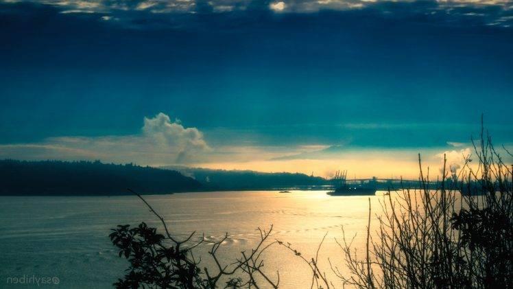Seattle, Nature, Sunset, Water, Sea, Boat HD Wallpaper Desktop Background