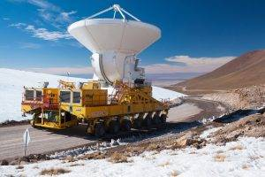 vehicle, Nature, Hill, Clouds, Telescope, Observatory, ALMA Observatory, Chile, Road, Winter, Snow, Wheels, Rock
