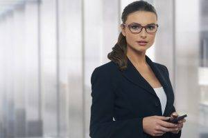 suits, Brunette, White Tops, Women, Women With Glasses