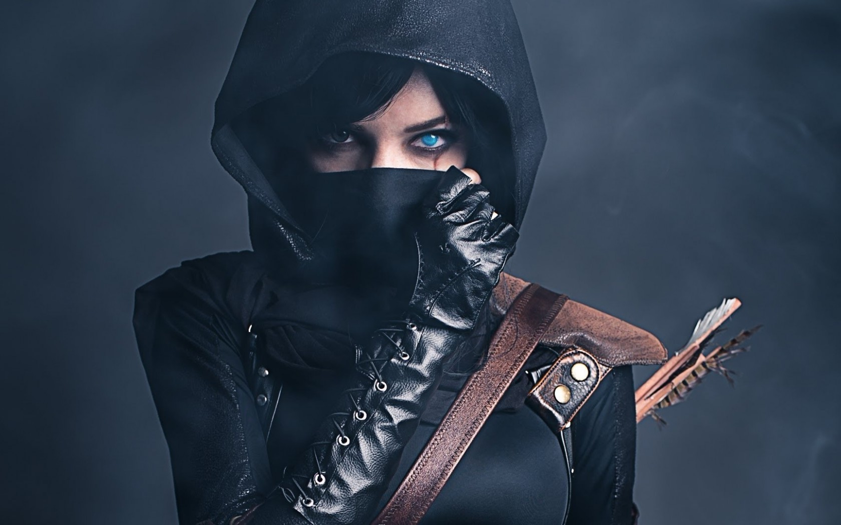 ninjas, women, arrows, cosplay, thief, genderbend wallpapers hd