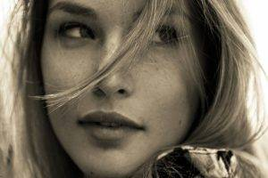 Bar Refaeli, Model, Women, Sepia, Face, Freckles
