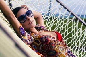Diana Morales, Bikini, Blouses, Unfastened, Sunglasses, Colorful, Hammocks