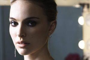 Natalie Portman, Actress, Looking At Viewer, Women, Face, Depth Of Field