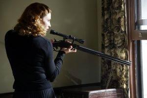women, Blonde, Women With Guns, Bridget Regan, Gun, Weapon, Agent Carter