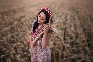 women, Women Outdoors, Model, Field