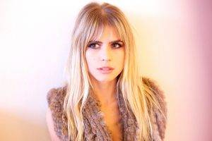 women, Blonde, Looking Away, Face, Carlson Young, Actress, Celebrity, Against Wall, Brown Eyes