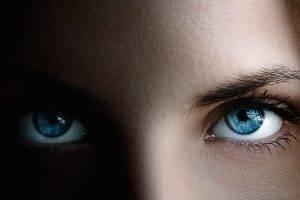 women, Eyes, Blue Eyes, Closeup