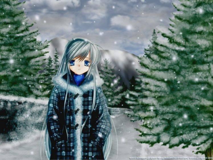 anime Girls, Clannad, Snow, Sakagami Tomoyo HD Wallpaper Desktop Background