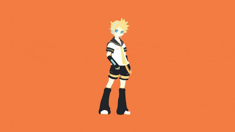 anime, Vocaloid, Orange, Kagamine Len HD Wallpaper Desktop Background