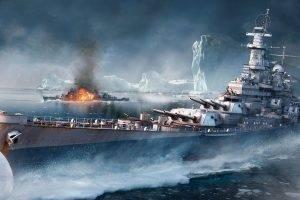artwork, Video Games, World Of Warships, Battleships, Iceberg