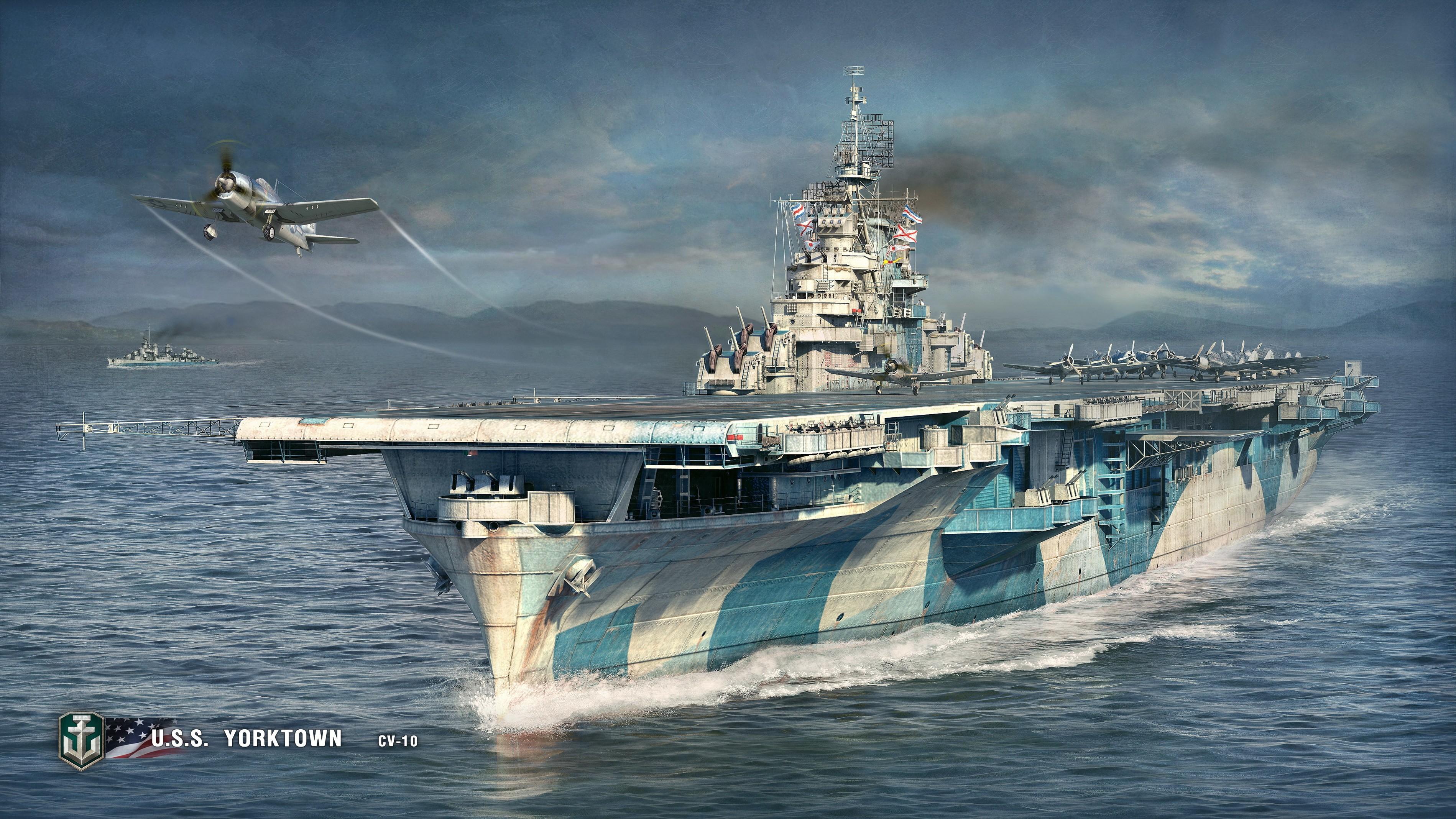 World Of Warships Wallpaper: World Of Warships, Artwork, Video Games, Aircraft Carrier