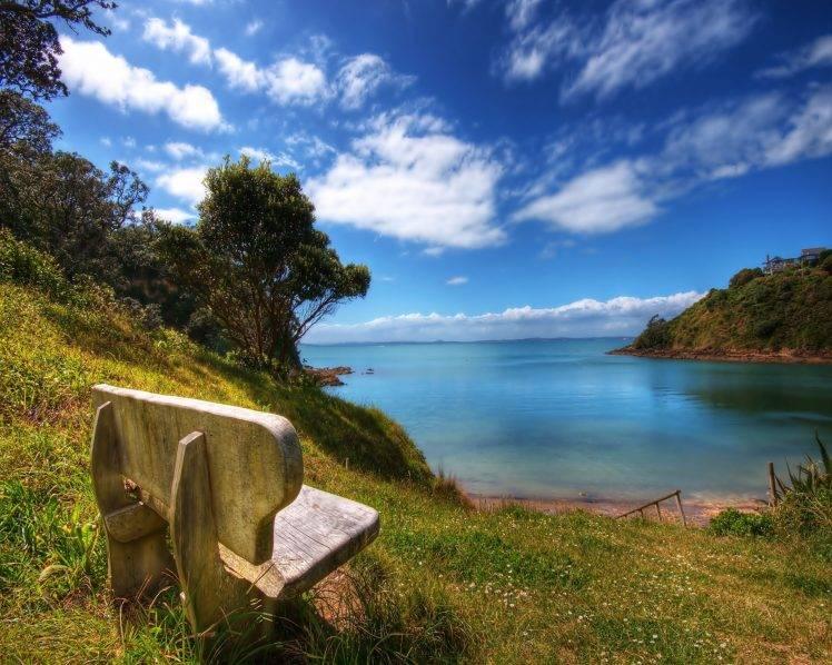 water, Sky, Clouds, Forest, Nature, Landscape HD Wallpaper Desktop Background