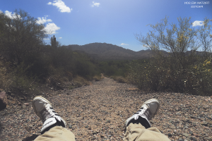 feet, Legs, Lying Down, Desert, Nature, Landscape, Shoes, Sky, Path, Dirt