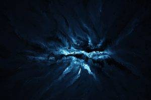 artwork, Blue, Digital Art, Starkiteckt, Space Art