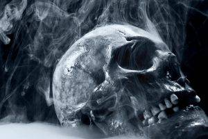 artwork, Digital Art, Skull, Smoke