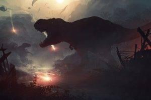 digital Art, Dinosaurs, Apocalyptic, Jurassic World