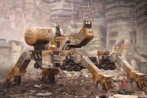digital Art, Futuristic, Machine, Artwork, Ruin