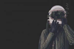 men, Pilot, Digital Art, Simple Background, Helmet, Plants, Surreal, Gloves, Artwork