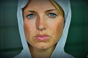 digital Art, Model, Face, Women, Blonde