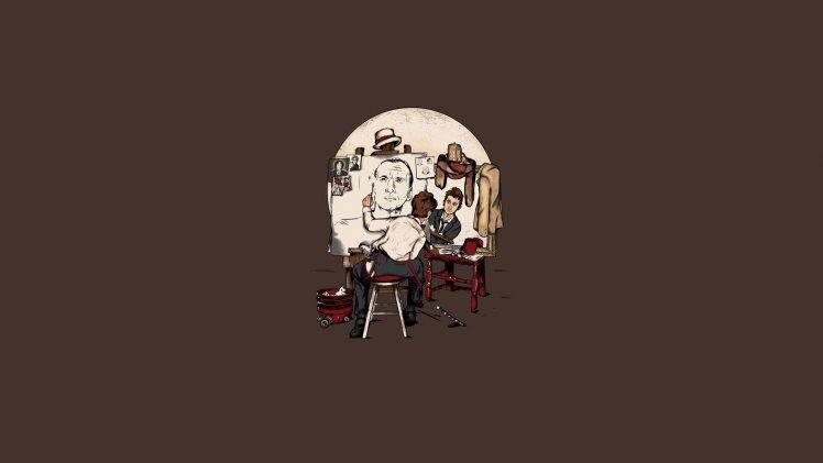 triple Self Portrait, Doctor Who, David Tennant, Matt Smith, Christopher Eccleston HD Wallpaper Desktop Background