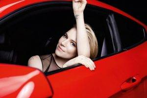 women, Car, Blonde, Women With Cars