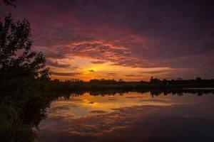 photography, Landscape, Nature, Sky, Clouds, Reflection, Sunset, Sunlight