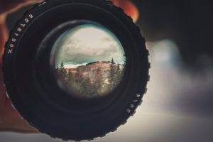 lens, Mountains, Camera, Bokeh, Landscape
