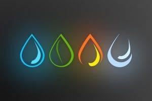 elements, Blue, Green, Orange, Simple