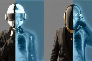 Daft Punk, X rays, Helmet, Suits