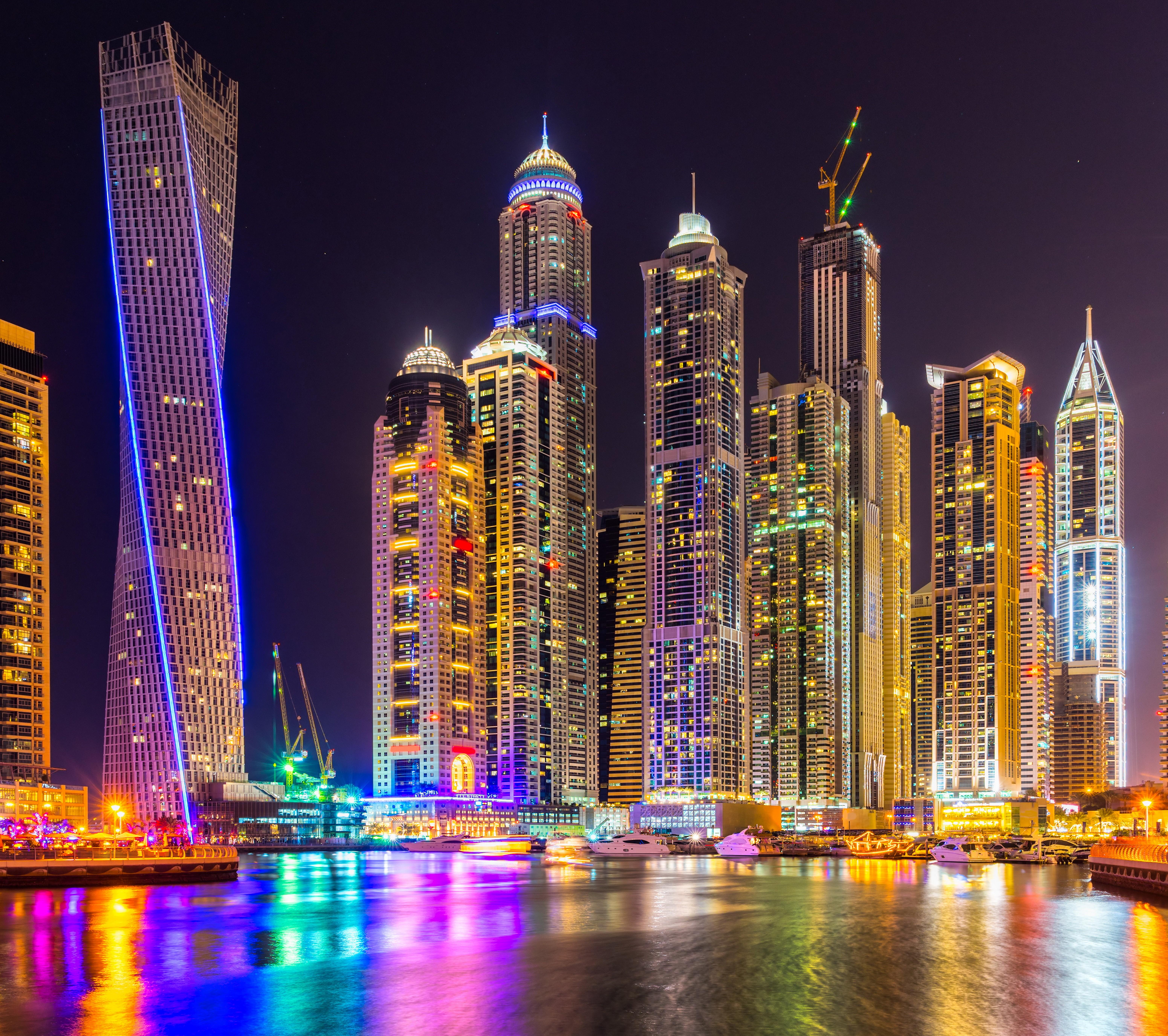 Dubai, Cityscape, City, Skyscraper, Building, Lights