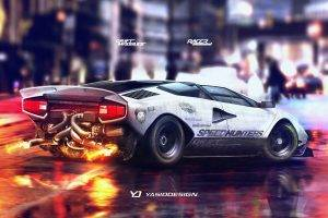 YASIDDESIGN, Car, Render, Artwork, Tuning, Lamborghini, Lamborghini Countach, Drift, Twin turbo, Speedhunters, Drift Missile