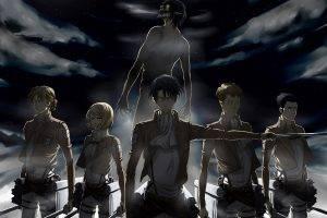 Shingeki No Kyojin, Levi Ackerman, Eren Jeager, Anime