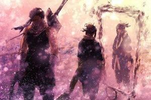 Naruto Shippuuden, Momochi Zabuza, Haku, Snow, Winter, Mirror, Bokeh