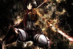 Shingeki No Kyojin, Mikasa Ackerman, Anime, Anime Girls