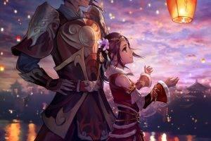 lantern, Lights, Original Characters, Sky Lanterns