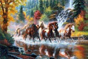 horse fall waterfall