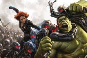 women scarlett johansson black widow hulk redhead the avengers avengers age of ultron