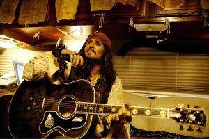 johnny depp jack sparrow pirates of the caribbean gibson gibson j 200