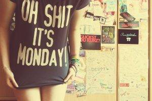 monday t shirt lockers bangles women stickers quote