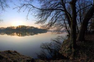 lake, Nature, Trees