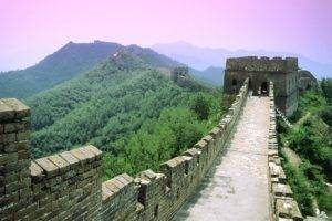 Great Wall of China, China, Mountain, Forest