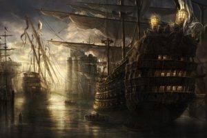 sea, Old ship