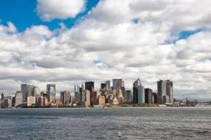 cityscape, City, Architecture, Building, Clouds, Water, Bridge, New York City, USA, Skyscraper