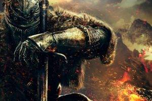 warrior, Dark Souls, Dark Souls II, Video games, Sword, Mountains, Digital art, Artwork, DeviantArt